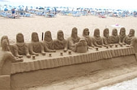Sand sculpture on the beach