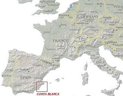 Europe showing Spain