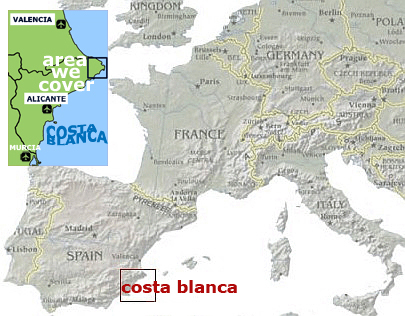 The area we cover in Spain