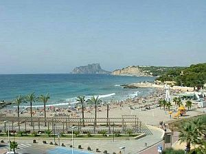 The beach at Moraira