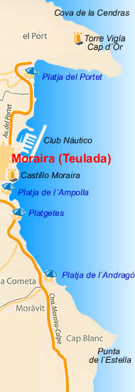 The beach of Moraira